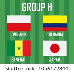soccer cup 2018 team group h.... | Shutterstock .eps vector #1056172844