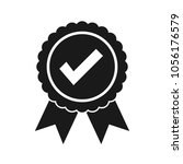 approved certified icon.... | Shutterstock .eps vector #1056176579