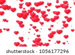red and pink heart. valentine's ... | Shutterstock . vector #1056177296