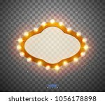 glowing lights retro for... | Shutterstock .eps vector #1056178898