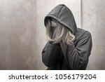 hopeless drug addict holding...   Shutterstock . vector #1056179204