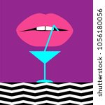 cocktail abstract background... | Shutterstock .eps vector #1056180056