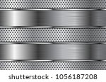 metal background with... | Shutterstock .eps vector #1056187208