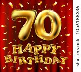 vector happy birthday 70th... | Shutterstock .eps vector #1056188336