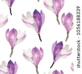 watercolor flowers hand drawing ... | Shutterstock .eps vector #1056188339