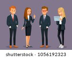 vector set of business men | Shutterstock .eps vector #1056192323