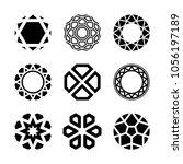 vector diamonds  brilliants ... | Shutterstock .eps vector #1056197189