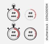 timer 22 seconds on gray... | Shutterstock .eps vector #1056200504