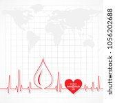 world hemophilia day vector... | Shutterstock .eps vector #1056202688
