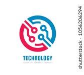technology   vector logo...   Shutterstock .eps vector #1056206294