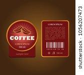 coffee label template   Shutterstock .eps vector #1056207473