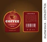 coffee label template   Shutterstock .eps vector #1056207926