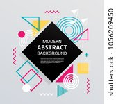 modern abstract with badge... | Shutterstock .eps vector #1056209450