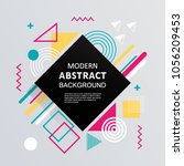 modern abstract with badge... | Shutterstock .eps vector #1056209453