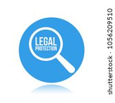 legal protection word... | Shutterstock .eps vector #1056209510