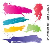 color brushstroke | Shutterstock .eps vector #105622076