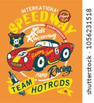 vintage speedway kids roadster...   Shutterstock .eps vector #1056231518