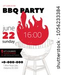 grunge bbq party invitation... | Shutterstock .eps vector #1056233384