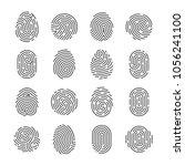 fingerprint detailed icons.... | Shutterstock .eps vector #1056241100