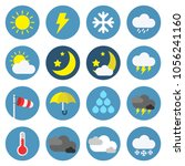 weather icon set isolated in... | Shutterstock .eps vector #1056241160