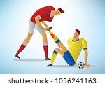 two men football player first...   Shutterstock .eps vector #1056241163