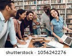 group of ethnic multicultural... | Shutterstock . vector #1056242276