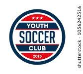 football logo badge isolated in ... | Shutterstock .eps vector #1056242516