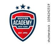 football logo badge isolated in ...   Shutterstock .eps vector #1056242519
