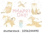 cute set of illustrations with... | Shutterstock .eps vector #1056244490