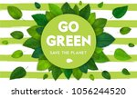 ecology theme happy earth day... | Shutterstock .eps vector #1056244520