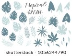 vector set with isolated... | Shutterstock .eps vector #1056244790