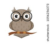 icon of owl with glasses...   Shutterstock .eps vector #1056256373