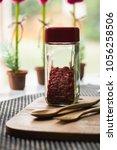 goji berries useful fruit...   Shutterstock . vector #1056258506