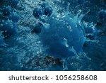 3d illustration pathogenic... | Shutterstock . vector #1056258608