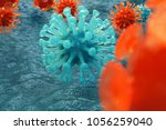 3d illustration pathogenic... | Shutterstock . vector #1056259040