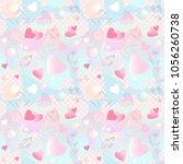 seamless pattern. brush strokes ...   Shutterstock .eps vector #1056260738