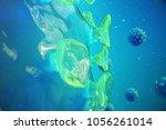 3d illustration pathogenic... | Shutterstock . vector #1056261014