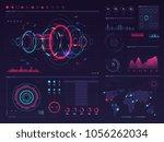 futuristic hud digital touch... | Shutterstock .eps vector #1056262034