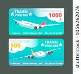 gift travel voucher  travelling ... | Shutterstock .eps vector #1056262076