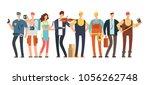 men and women of different... | Shutterstock .eps vector #1056262748