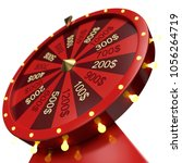 3d illustration red wheel of... | Shutterstock . vector #1056264719