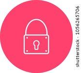 lock closed icon vector...