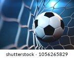 3d rendering soccer ball in... | Shutterstock . vector #1056265829