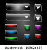 set of buttons for web. vector... | Shutterstock .eps vector #105626684