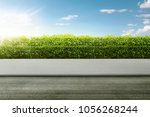 road side on the green park... | Shutterstock . vector #1056268244