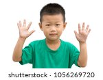 happy asian child smiling and... | Shutterstock . vector #1056269720