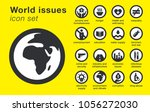 world issues icons set.... | Shutterstock .eps vector #1056272030