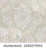 vector damask pattern... | Shutterstock .eps vector #1056274553