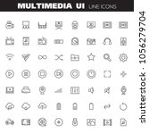 big multimedia linear icons... | Shutterstock .eps vector #1056279704