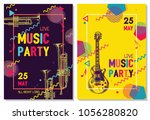 colorful music background.... | Shutterstock .eps vector #1056280820